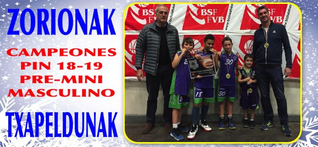 NUESTRO PRE-MINI MASCULINO CAMPEON DEL PIN EN SU CATEGORIA